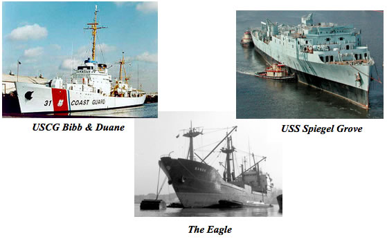 Scuba Diving the Duane, Spiegel Grove and the Eagle